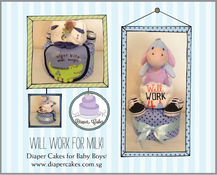 Eeyore Baby Boy Diaper Cake Baby Gift