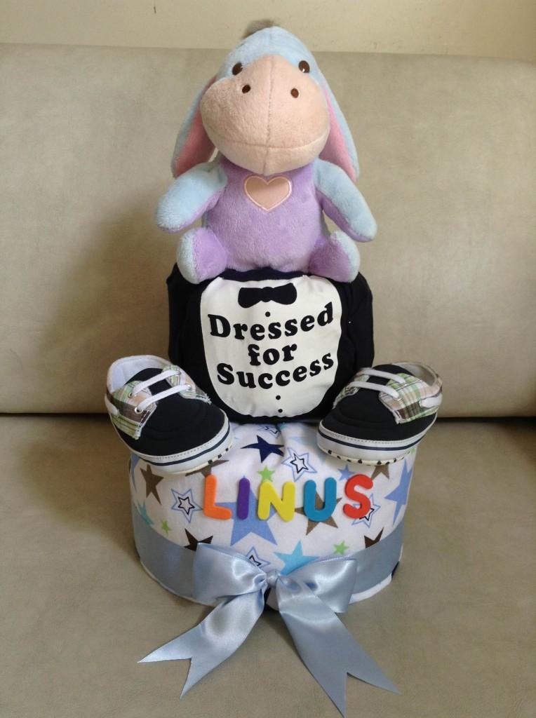 Baby Gift Diaper Cake for Baby Boy Linus