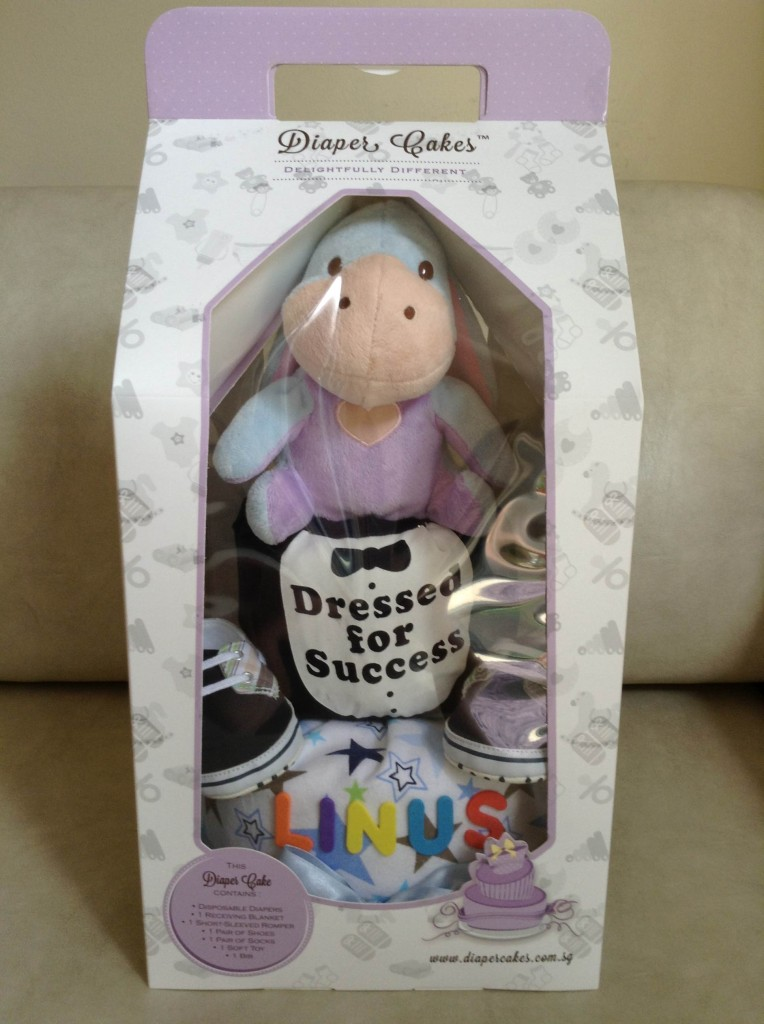 Linus Baby Boy Eeyore Diaper Cake