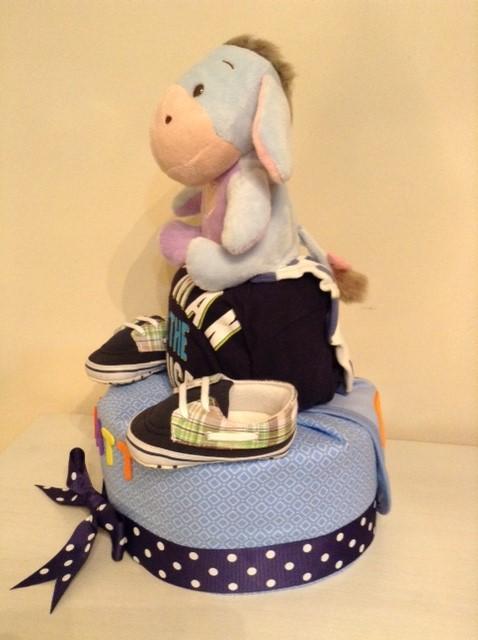 Matt Baby Boy Eeyore Diaper Cake 4