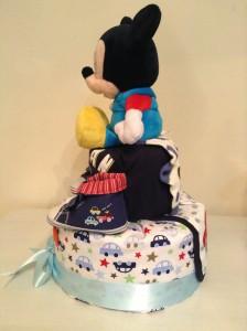 Mickey Nolen Baby Boy Diaper Cake 2