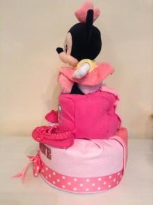 Minnie Shavonne Baby Girl Diaper Cake 2