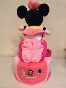 Minnie Shavonne Baby Girl Diaper Cake 3