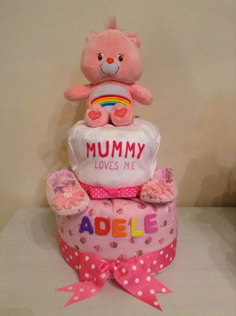 Mummy Loves Me Diaper Cake Baby Gift