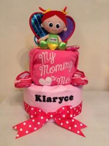 Little Girl Butterfly Diaper Cake Baby Gift 1