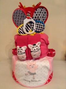 Little Girl Butterfly Diaper Cake Baby Gift 3