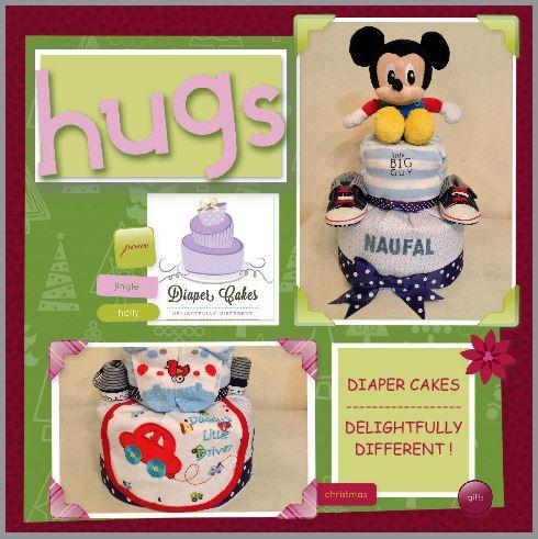 Mickey Diaper Cake Baby Gift Baby Boy Naufal
