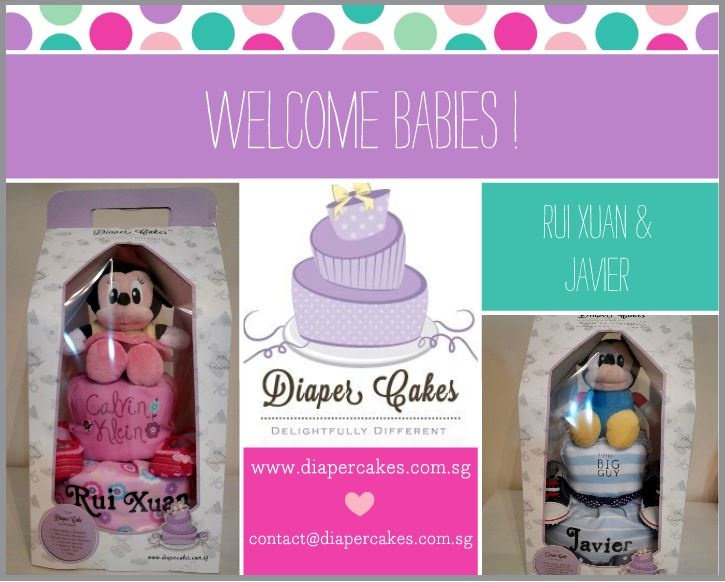 Mickey and Minnie Diaper Cakes Baby Gift