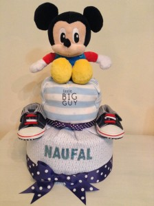Mickey Mouse Diaper Cake Baby Gift 1