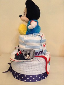 Mickey Mouse Diaper Cake Baby Gift 2