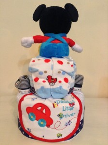 Mickey Mouse Diaper Cake Baby Gift 3