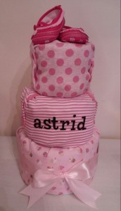 Diaper Cake Baby Girl Astrid 1