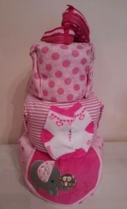 Diaper Cake Baby Girl Astrid 3