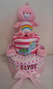 Care Bear Baby Girl Diaper Cake 1