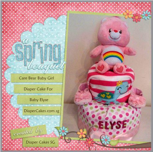 Care Bear Baby Girl Elyse Diaper Cake