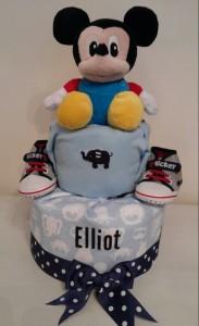 Mickey Baby Boy Elliot Diaper Cake 1