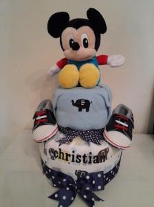 Mickey Diaper Cake Baby Boy Christian 1
