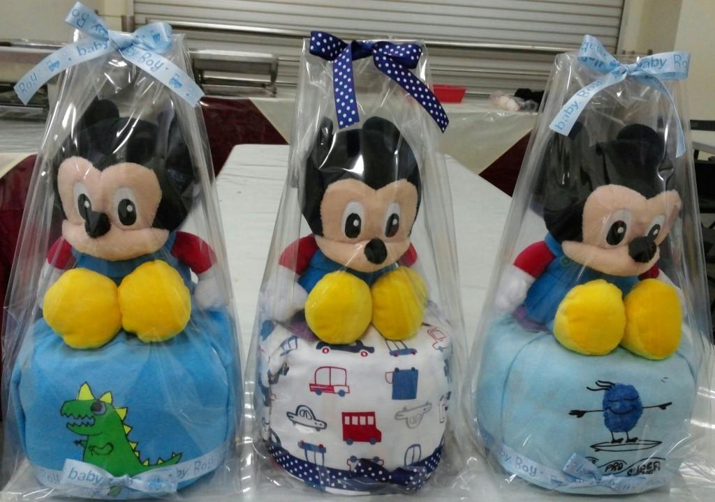 Noel Gifts Mini Diaper Cakes Baby Boy