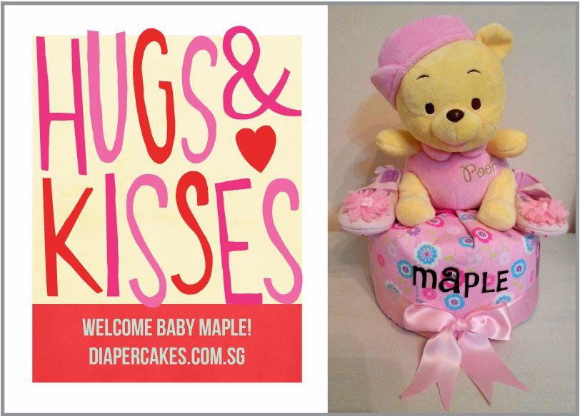 Single Tier Baby Maple Diaper Cake