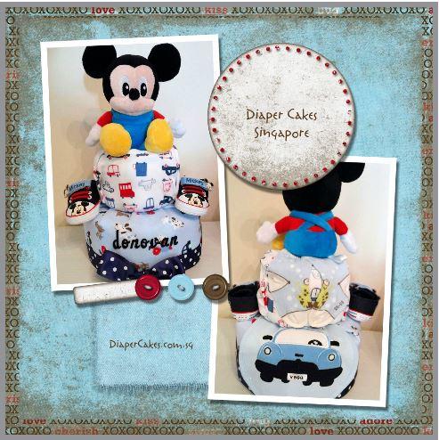 Baby Boy Donovan Diaper Cake