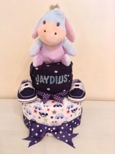 Eeyore Diaper Cake Baby Boy Jaydius 1