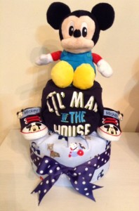 Mickey Mouse Baby Boy Diaper Cake Baby Gift 1
