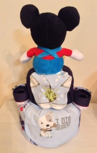 Mickey Mouse Baby Boy Diaper Cake Baby Gift 2