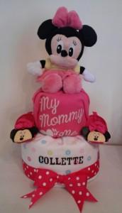 Two Tier Minnie Diaper Cake Collette 1