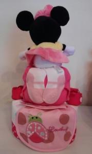 Two Tier Minnie Diaper Cake Collette 2