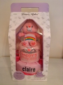 2 Tier Baby Girl Claire Diaper Cake 1