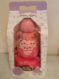 2 Tier Baby Girl Claire Diaper Cake 2