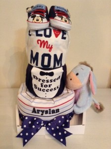 3 Tier Baby Boy Aryslan Diaper Cake 3
