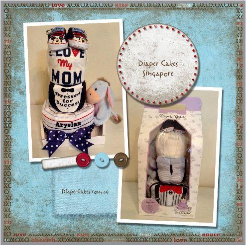 3 Tier Baby Boy Aryslan Diaper Cake 5