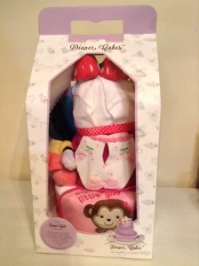3 Tier Minnie Mouse Baby Girl Diaper Cake 4