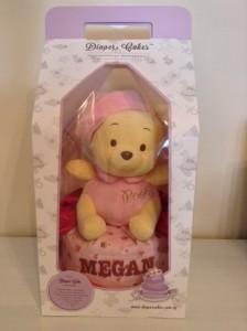 Baby girl Megan Diaper cake 1