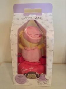 Baby girl Megan Diaper cake 2