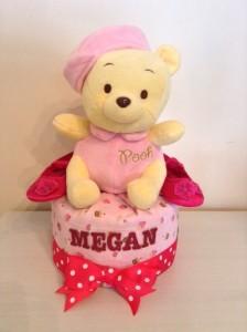 Baby girl Megan Diaper cake 3