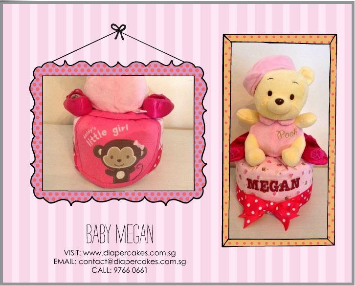 Baby girl Megan Diaper cake 5