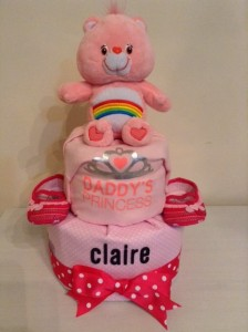 Claire Baby Girl 2 Tier Diapercake 1