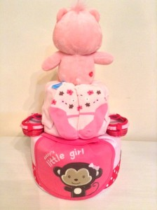 Claire Baby Girl 2 Tier Diapercake 2