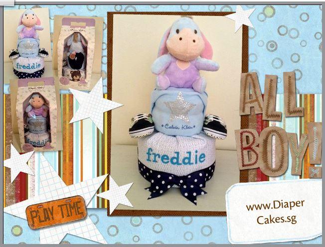 Diaper Cake Baby Gift Boy Freddie 5