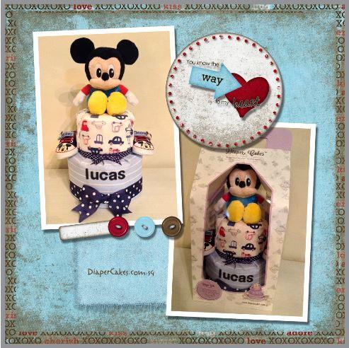 Diaper Cake Baby Gift Boy Lucas 5