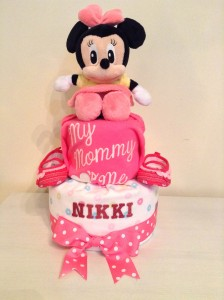 Diaper Cake Baby Gift Girl Nikki 1