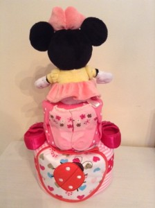 Minnie Mouse Baby Girl 2 Tier Diaper Cake 2