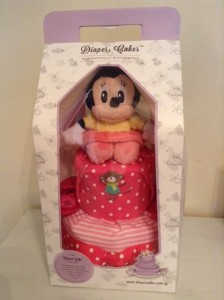 Minnie Mouse Baby Girl 2 Tier Diaper Cake 3