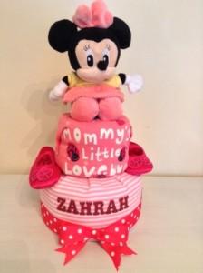Zahrah Baby Girl Minnie Mouse Diaper Cake 1