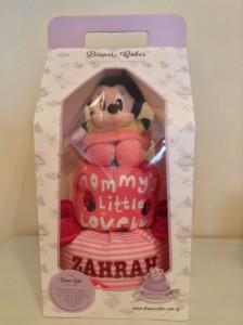 Zahrah Baby Girl Minnie Mouse Creative Baby Gift Diaper Cake Singapore 3