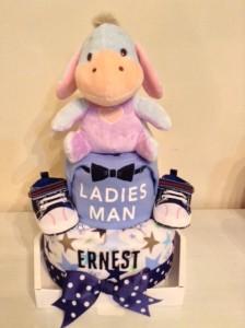 2-Tier Eeyore Ernest Boy Diaper Cake Baby Gift 3