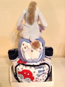 2-Tier Eeyore Ernest Boy Diaper Cake Baby Gift 4