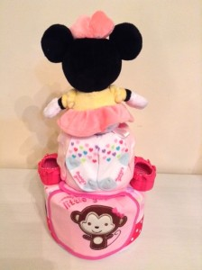 2 Tier Minnie Diaper Cake Baby Gift Giselle 2